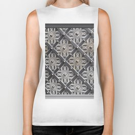 Metallic And Decorative - Grey Monochrome #decor #society6 #buyart Biker Tank