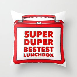 Super Duper Bestest Lunchbox Throw Pillow
