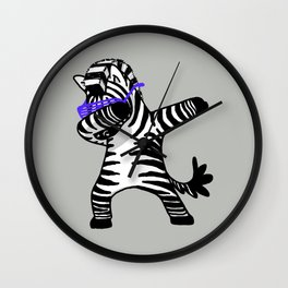Dabbing Zebra Shirt Dab Hip Hop Funny Wall Clock