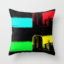 Miami Popart Panorama Throw Pillow