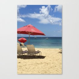 Barbados Beach Day Canvas Print