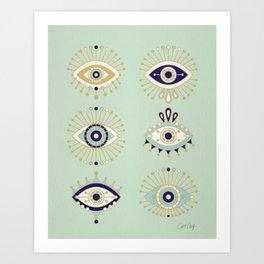 Evil Eye Art Prints | Society6