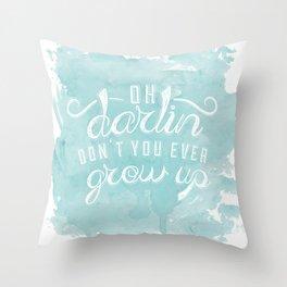 LYRICS - Don't you ever - color Throw Pillow