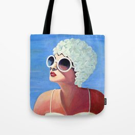 Vivian goes for a dip. Tote Bag