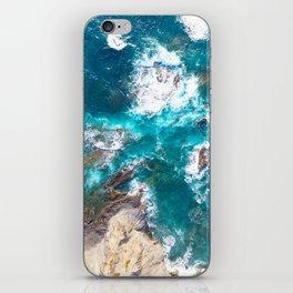 Ocean, deep blue, drone photography, aerial iPhone Skin