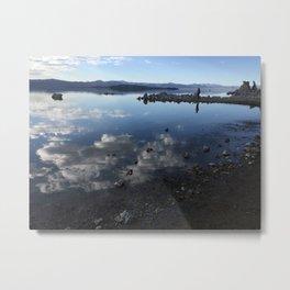 Reflection Mono Lake Metal Print