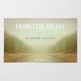 Knowledge Speaks Rug