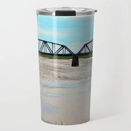 Low Tide at the Sackville Train Bridge Travel Mug