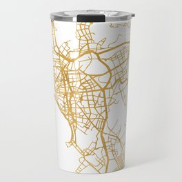 LIMA PERU CITY STREET MAP ART Travel Mug