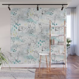 High in the Mountains Wall Mural