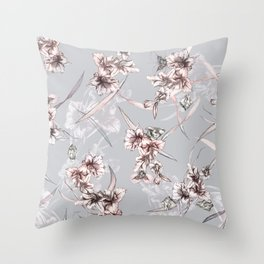 Crystalized Florals Throw Pillow
