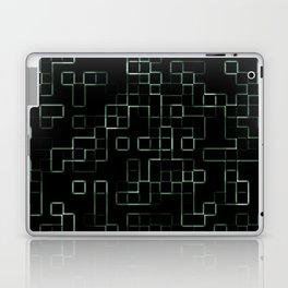 Green neon mosaic technology pattern Laptop & iPad Skin