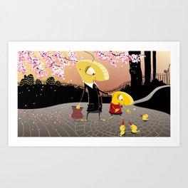 Look Dad! Art Print