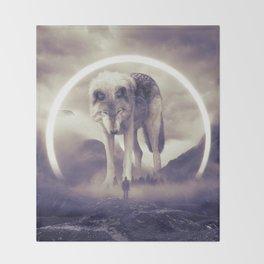 aegis II   wolf Throw Blanket