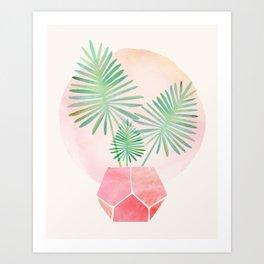 Under The Summer Sun - Palm Fronds Art Print