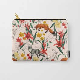Floral Fox Carry-All Pouch
