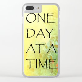 One Day at a Time (ODAT) Lilacs & Poppies Clear iPhone Case