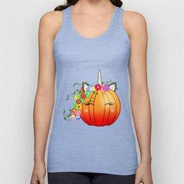 Unicorn Pumpkin Unisex Tank Top
