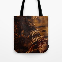 Autumn Fern Tree Leaf Brown Coffee Color Tote Bag