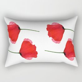 Two red poppies Rectangular Pillow