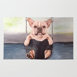 Hello Frenchie Rug