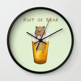 Pint of Bear Wall Clock