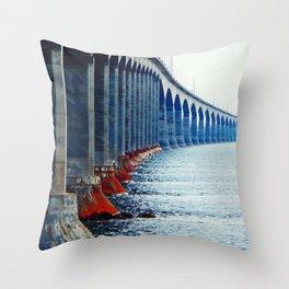 Confederation Bridge New-Brunswick Throw Pillow