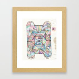 DOOR TO SPACE  Framed Art Print