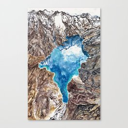 New Zealand Southern Alps - aerial landscape - mountains - hiking Canvas Print