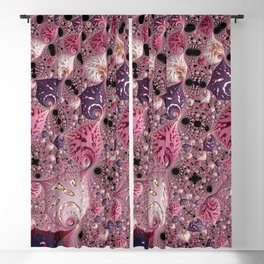 Pink Fractal Blackout Curtain