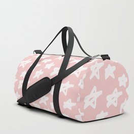 Stars on pink background Duffle Bag