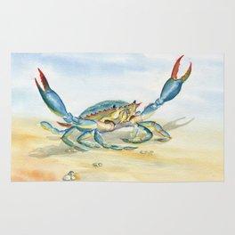 Colorful Blue Crab Rug
