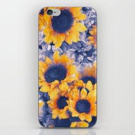 Sunflowers Blue iPhone Skin