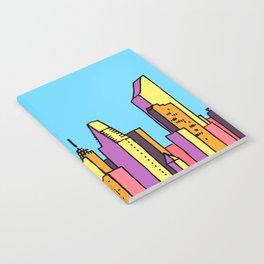 architecture art, new york city illustration, new york skyline, Notebook