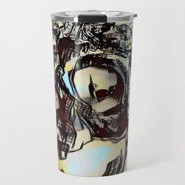 Metal Paper Skull Travel Mug