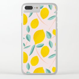 Lemons for days Clear iPhone Case