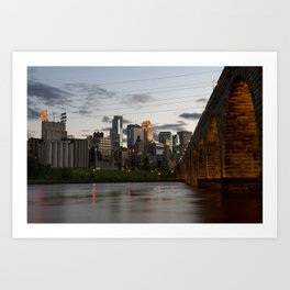Minneapolis Skyline - Stone Arch View Art Print