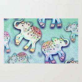 ELEPHANT PARTY MINT Rug