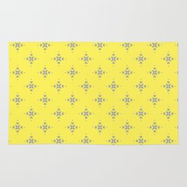 Ornamental Pattern with Lemon and Grey Yellow Colourway Rug