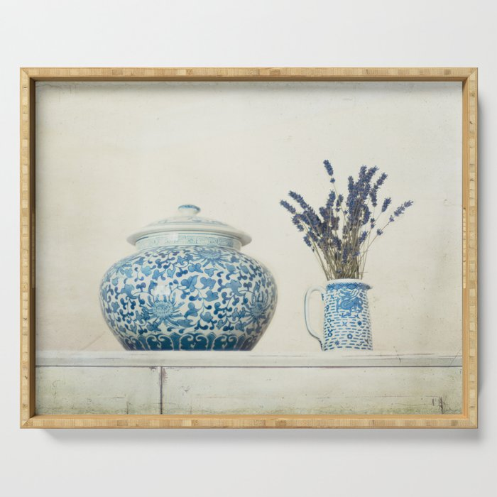 Lavender with Ginger Jar and Jug Serving Tray