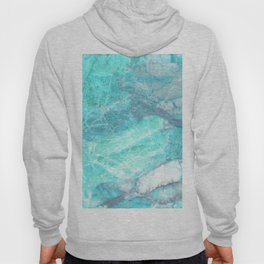 Marble Turquoise Blue Agate Hoody