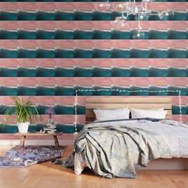 Turquoise Sea Pastel Beach II Wallpaper