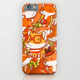The Fox Family iPhone Case