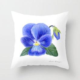 Purple Pansy by Teresa Thompson Throw Pillow