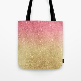 Pink abstract gold ombre glitter Tote Bag