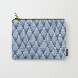 blue scaley pattern Carry-All Pouch