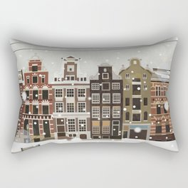 Amsterdam in the snow Rectangular Pillow