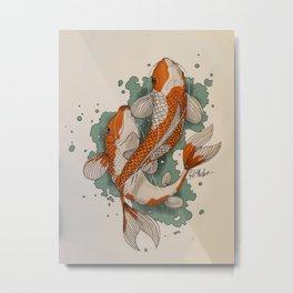 Koi Metal Print