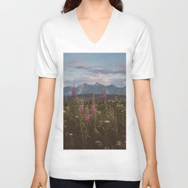 Mountain vibes - Landscape and Nature Photography Unisex V-Neck