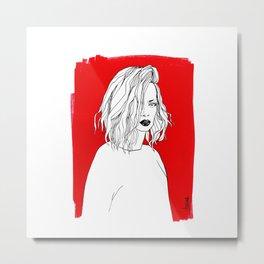 RED SHIRLEY MANSON Metal Print